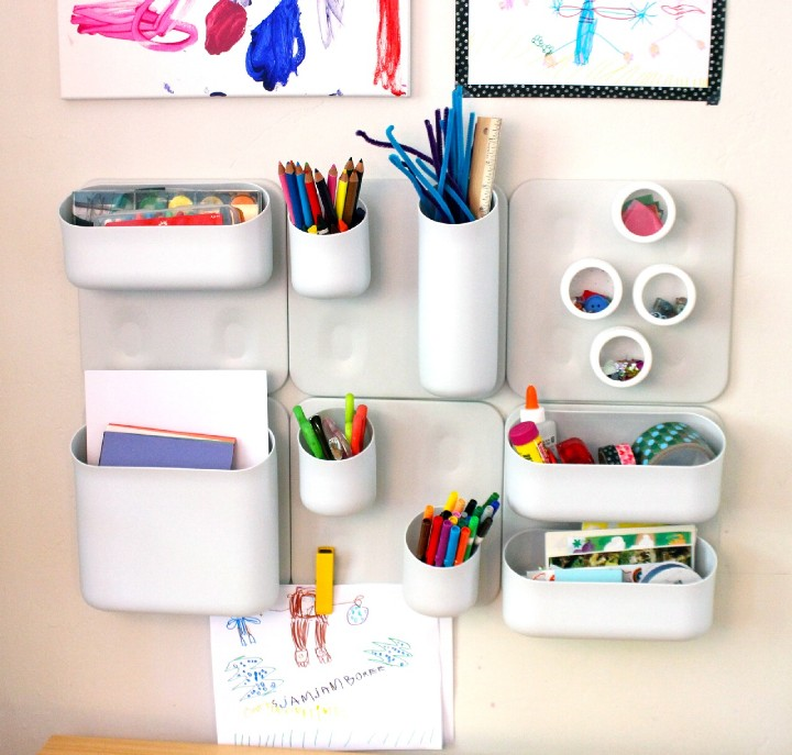 Before And After Merging Two Rooms Has Created A Super: Awesome Wall Organizer